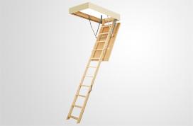 Escaleras de madera de tramos